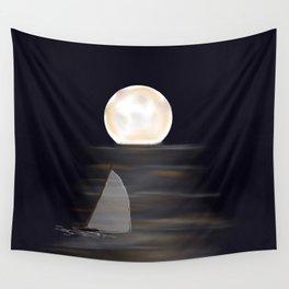 full moon digital design # Wall Tapestry