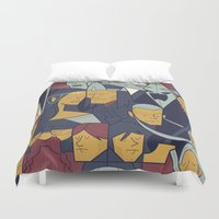 ale giorgini Duvet Covers featuring The Return of the King by Ale Giorgini