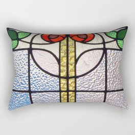 Antique Stained Glass Rectangular Pillow