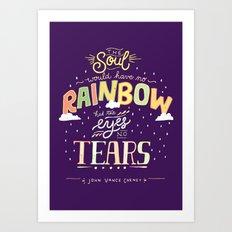 Rainbow and Tears Art Print