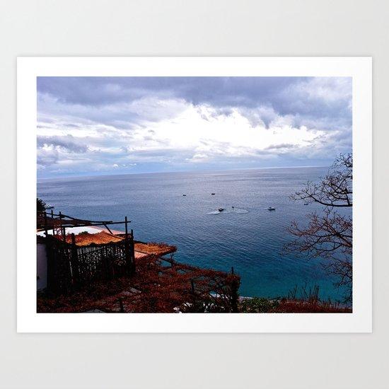 Positano: Amalfi Coast, Italy Art Print