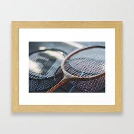 Tennis Rackets Framed Art Print