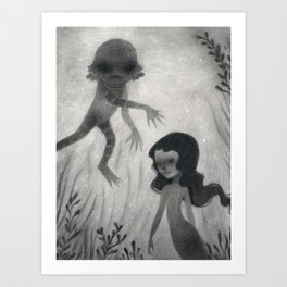 Creature from the Black Lagoon Art Print