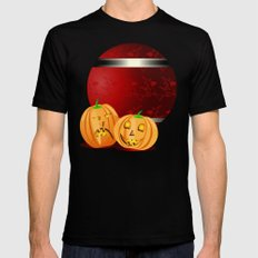 Pumpkins and spooky witches MEDIUM Mens Fitted Tee Black