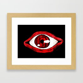 Alucard eye Framed Art Print