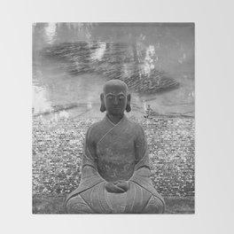 Sitting Buddha Throw Blanket