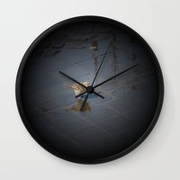 jack sparrow Wall Clocks featuring sparrow... jack? by death above