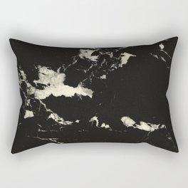 Black Marble and Blush Yellow #1 #decor #art #society6 Rectangular Pillow