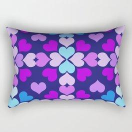 Ultra-Violet Heart Quilt Rectangular Pillow