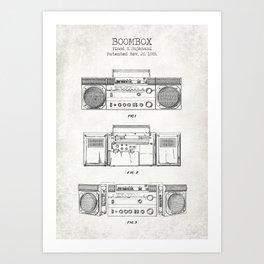 Boombox patent old canvas Art Print