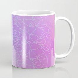 Circular Modern Floral Sacred Geometric Art Retro Pastel Rainbow Mandala Coffee Mug
