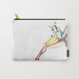 Spread, female abstract anatomy, NYC artist Carry-All Pouch