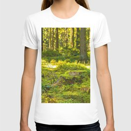 Beautiful green lush nature in the forest, Germany T-shirt