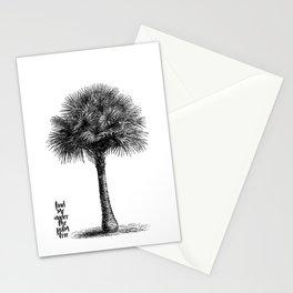 palm tree botanical no1 Stationery Cards