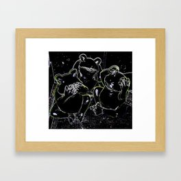 Hear No Evil. See No Evil. Speak No Evil. Frogs Framed Art Print