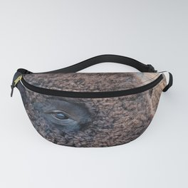Buffalo the Mighty Beast - In The Presence Of Bison by OLena Art Fanny Pack