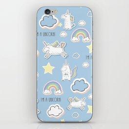 I'm a Unicorn - blue iPhone Skin
