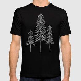 Pine Trees – Black Ink T-shirt