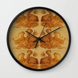 Lurking Octopus  Wall Clock