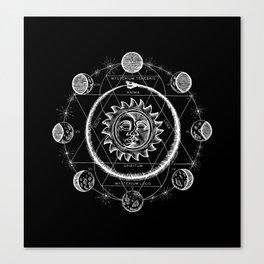 Boho Moon Canvas Print