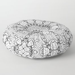 """Black and white pattern . """"Lola"""" Notepad-cover-coloring . Floor Pillow"""