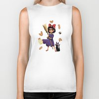 kiki Biker Tanks featuring Kiki and Jiji by Kristin Frenzel