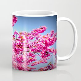 pink FLowers blue sky Coffee Mug