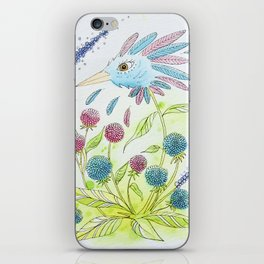 Flower-bird iPhone Skin