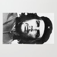 che Area & Throw Rugs featuring Che Guevara  by Limitless Design