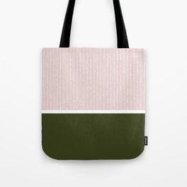 Pink & Olive Tote Bag
