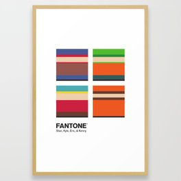 S. Park - FANTONE® Four Collection Framed Art Print