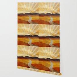 Desert in the Golden Sun Glow II Wallpaper
