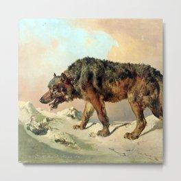 Sibirischer Wolf Metal Print