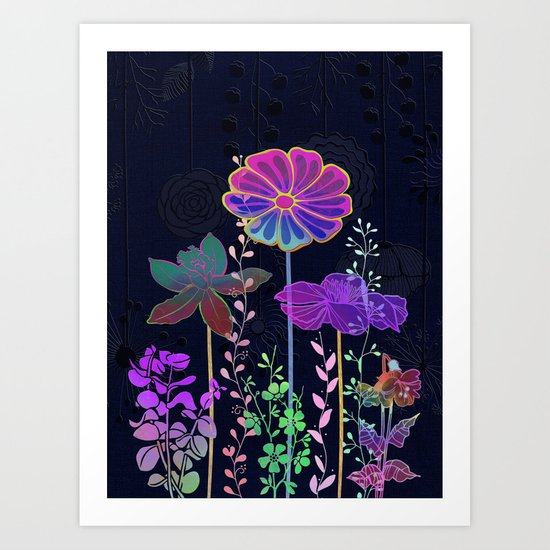 Flower Tales 3 Art Print