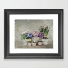 longing for springtime Framed Art Print