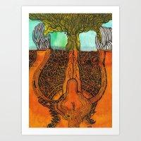 cry of the earth (grito de la tierra) Art Print