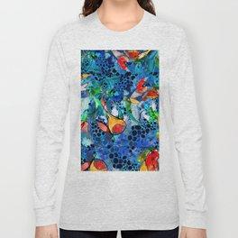 Beautiful Koi Pond Art - Koi Khorus - Sharon Cummings Long Sleeve T-shirt