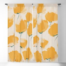 The Yellow Flowers Blackout Curtain
