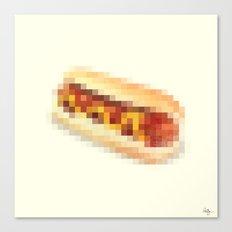 Censored Hot Dog Canvas Print