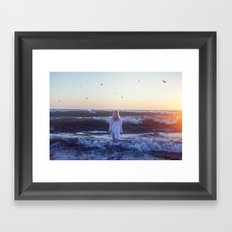 I go, peacefully, into the fray Framed Art Print