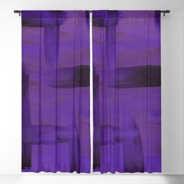 Purple on Purple Blackout Curtain