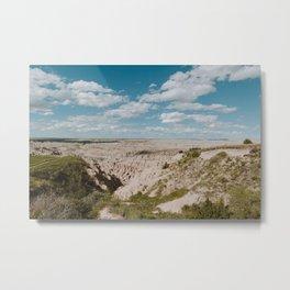 Red Shirt Table - Badlands National Park Metal Print
