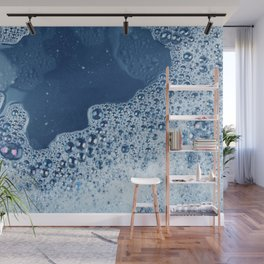 soap foam surface Wall Mural