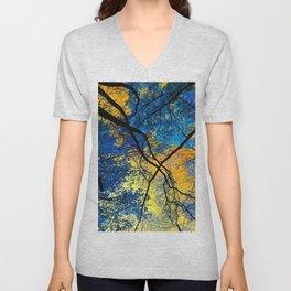 Blue Trees Unisex V-Neck