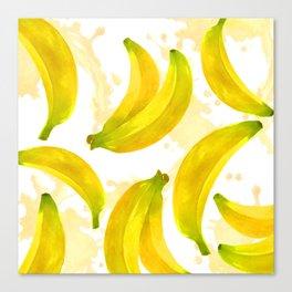 Watercolor Banana Canvas Print