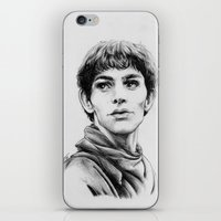 merlin iPhone & iPod Skins featuring Merlin by Anna Tromop Illustration