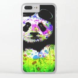 Panda Head Clear iPhone Case