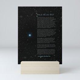 Carl Sagan's Pale Blue Dot Speech Science Cosmos Mini Art Print