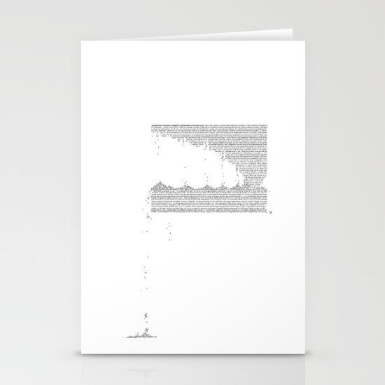 Erosion & Typography 3 Stationery Cards