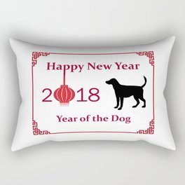 Happy New Year of the Dog Rectangular Pillow